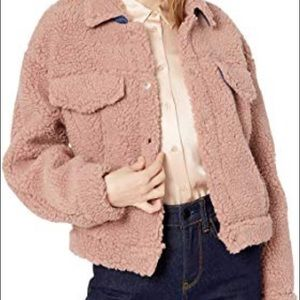 ASTR The Label teddy faux shearling trucker jacket